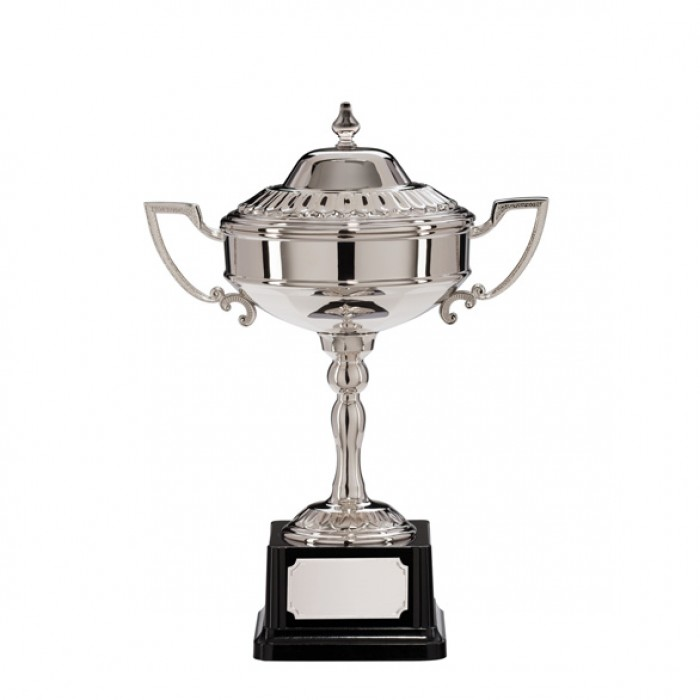 STERLING  - NICKEL PLATED TRADITIONAL TROPHY CUP -